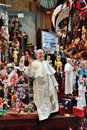 Famous puppets by naples italy october san gregorio armeno in is the way the world of the crib the stalls also expose statues of Royalty Free Stock Photography