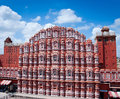 Famous Rajasthan landmark - Hawa Mahal palace Royalty Free Stock Photo