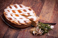 Famous Recipes - Italian Pastiera Royalty Free Stock Photo