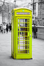 Famous red telephone booth in london uk Stock Image