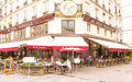 The famous restaurant Au pere tranquille, Paris, France. Royalty Free Stock Photo