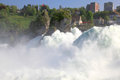 Famous rhein falls schaffhausen switzerland the biggest waterfall in europe Stock Images