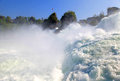 Famous rhein falls schaffhausen switzerland the biggest waterfall in europe Royalty Free Stock Photography