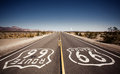 Famous route landmark on the road in californian desert Royalty Free Stock Photography