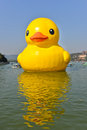 The famous rubber duck is exhibited at the summer palace beijing october designed by dutch artist florentijn hofman on october in Stock Photos