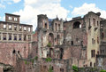 Famous ruin of castle Heidelberg Royalty Free Stock Photo