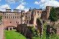 Famous ruin of castle Heidelberg Royalty Free Stock Photo