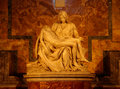 Famous sculpture michelangelo pietà most in st peters basilica in rome italy Stock Image