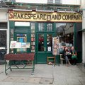 Famous shakespeare and company book shop in paris france where famous writers such as ernest heminway gathered Stock Photo