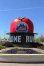 The famous shea stadium home run apple on mets plaza in the front of citi field flushing ny may major league baseball team Stock Photo