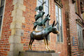 Famous statue in the center of Bremen, known as The Bremen Town Musicians Royalty Free Stock Photo