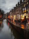 The famous street red light district in amsterdam netherlands february Stock Images