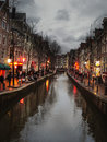 The famous street red light district in amsterdam netherlands february Stock Photos