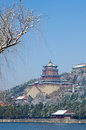 Famous summer palace snow beijing Stock Photography
