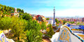 The Famous Summer Park Guell Royalty Free Stock Image