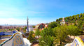 The Famous Summer Park Guell in Barcelona Royalty Free Stock Images