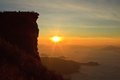 Famous sunrise viewing place in  Thailand Stock Photography