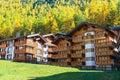 Famous swiss city zermatt in the valley near the swiss italian border center of alpine sports Stock Images