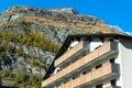 Famous swiss city zermatt in the valley near the swiss italian border center of alpine sports Stock Photography