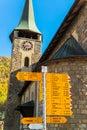 Famous swiss city zermatt in the valley near the swiss italian border center of alpine sports Royalty Free Stock Image