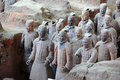 The famous terracotta warriors Royalty Free Stock Photography