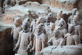 Famous terracotta warriors xian china Stock Photography