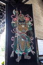 Famous tourist attractions in Guangzhou, Chen ancestral hall, painted figures on the door