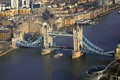 Famous tower bridge with flag of england in london uk Stock Photo