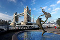 Famous Tower Bridge in London, England Stock Photography