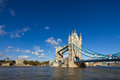 The famous Tower Bridge in London, UK Royalty Free Stock Photo