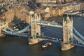 Famous tower bridge with tourist boat in london uk Stock Images
