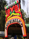 The famous trjineras or flat bottom boats of xochimilco, mexico city Royalty Free Stock Photo