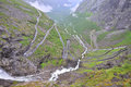 Famous Troll's Path Trollstigen Royalty Free Stock Photography
