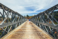 Famous truss bridge over Aradena Gorge Royalty Free Stock Photo