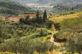 Famous tuscany landscapes in italy near the florence Royalty Free Stock Photography