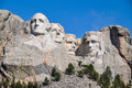 Famous us presidents on mount rushmore national monument south Royalty Free Stock Photos