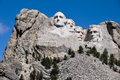 Famous us presidents on mount rushmore national monument south Stock Photos