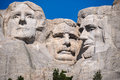 Famous us presidents on mount rushmore national monument south dakota Stock Photos