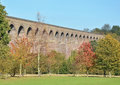 Famous victorian brick built railway viaduct colne valley chappel essex Stock Image
