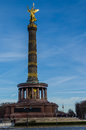Famous victory column in berlin siegessäule on straße des juni germany the is a monument germany Royalty Free Stock Photo
