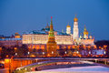 Famous  view of Moscow Kremlin Stock Images