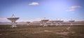 The famous VLA Very Large Array near Socorro New Mexico Royalty Free Stock Photo