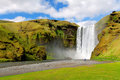 Famous waterfall skogafoss in iceland Stock Image
