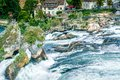 Famous waterfall in swiss rheinfall a of the river rhein Stock Photography