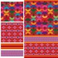 Fan Arabic color seamless pattern
