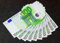 Fan of euro banknotes Royalty Free Stock Images