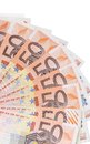 Fan of euro notes close up Royalty Free Stock Photo