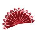 Fan flamenco accesory icon Royalty Free Stock Photo