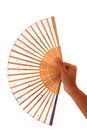 Fan in hand Royalty Free Stock Photography