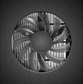 Fan with heatsink close up Stock Photography